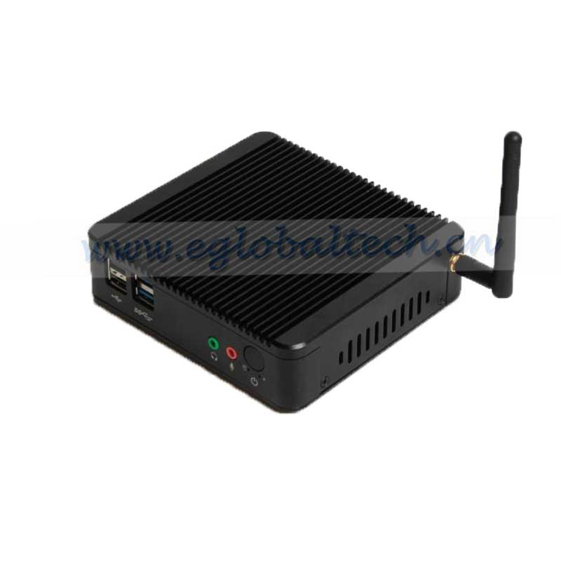 Eglobal tiny pc fanless celeron J1900 Dual lan mini desktop pc windows 7 Small computer