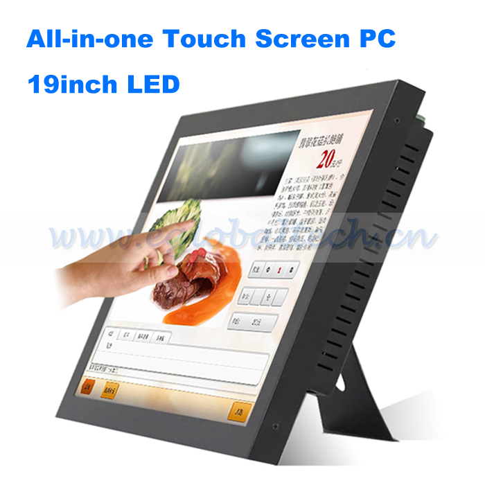 Windows Industrial PC AMD N330 Motherboard All in One PC 19inch Touch Screen LED Monitor Mini PC