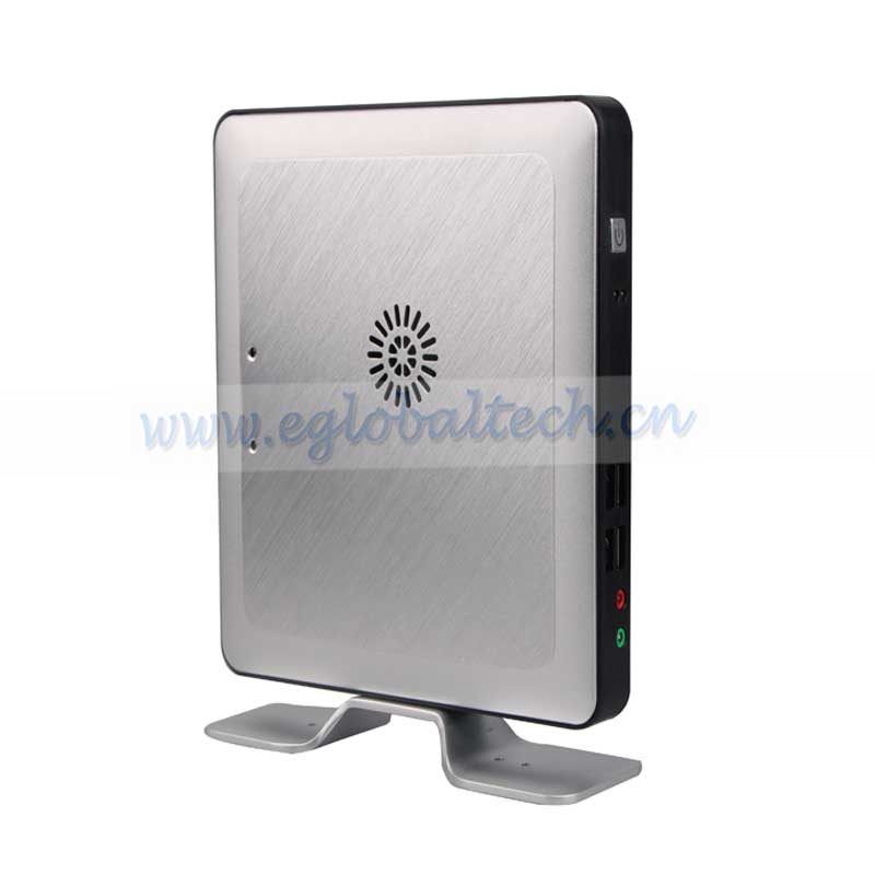 Eglobal mini windows computer intel celeron 1037U dual core hd mini pc with fan