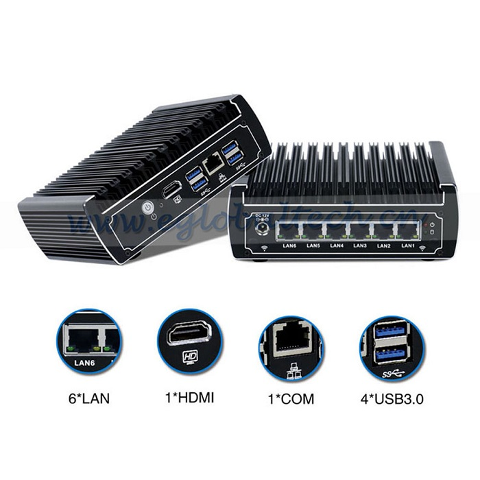 Eglobal newest Embeded PC Intel Core i3 7100U cheap mini PC 2.4GHz 2 Core 4 threads