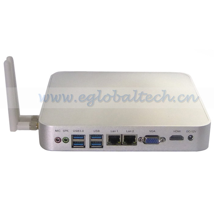 Eglobal high quality DIY compact desktop pc intel celeron 1037U dual core intel small pc HDMI