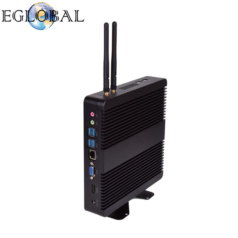 Eglobal 2018 New arrival Micro PC Intel Core i5 7200U fanless mini PC with HDMI VGA barebone